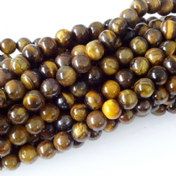 Gemstone Tiger Eye 8mm Round  Beads 16 Inch